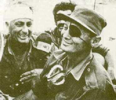 La Guerra de los 6 Días Sharon-dayan-israel