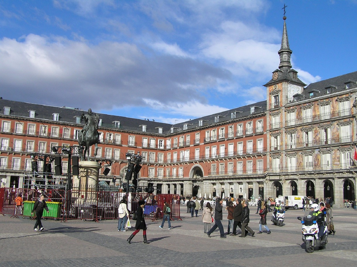 Plaza Mayor de Madrid,  18 de febrero 2007 - Portal Fuenterrebollo