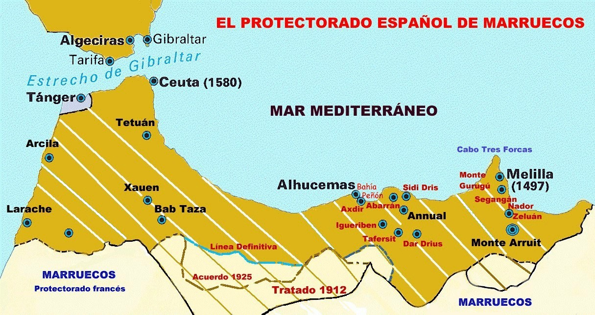 Mapa Marruecos Ceuta Y Melilla.C Portal Fuenterrebollo