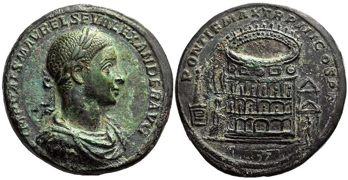 Medallón (222-235), Alejandro Severo - Portal Fuenterrebollo
