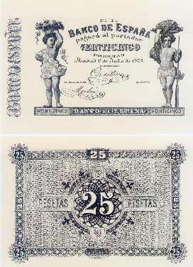 Billetes 1874 portal fuenterrebollo for Sucursales banco de espana madrid