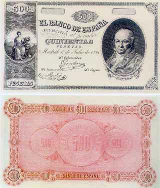 500 pesetas, 1874