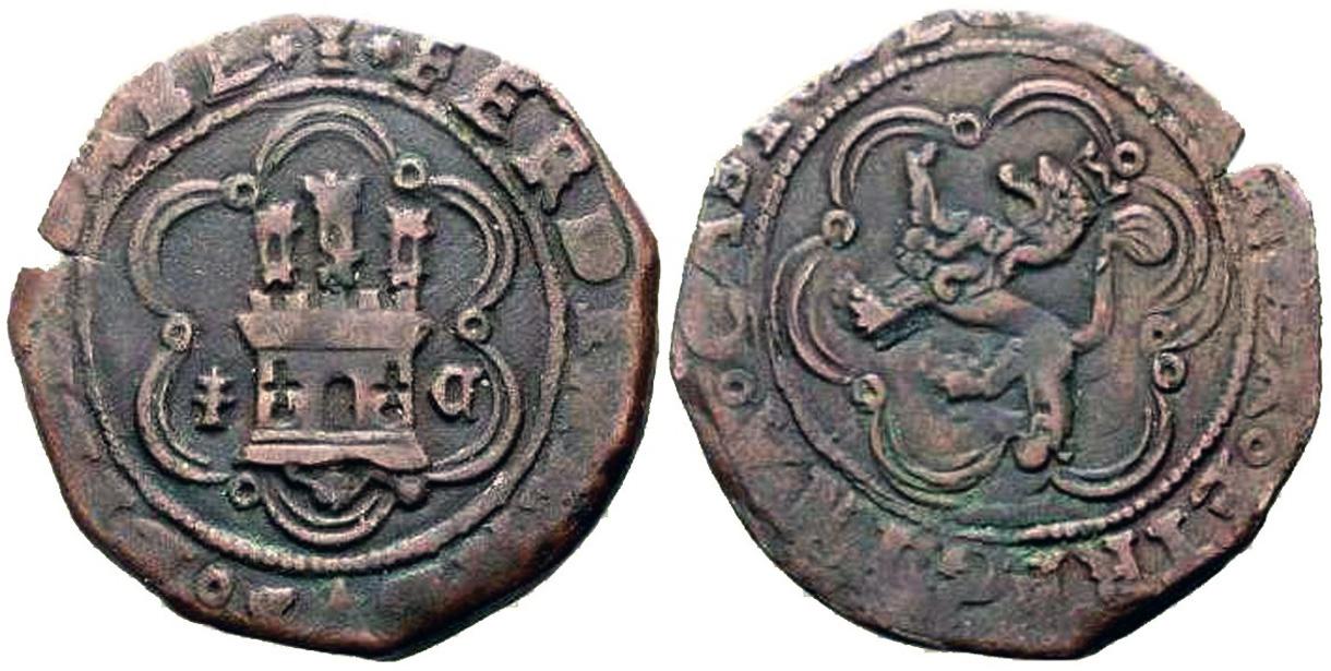 4 Mrs. de los RRCC (Cuenca, 1474 - 1504 d.C) 1470-4maravedis-cuenca