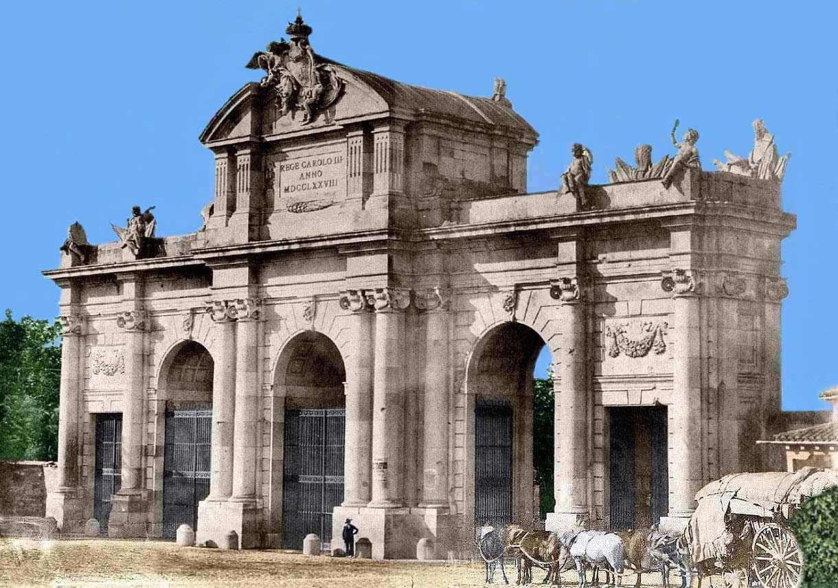 Madrid antiguo color portal fuenterrebollo - La puerta de alcala ...