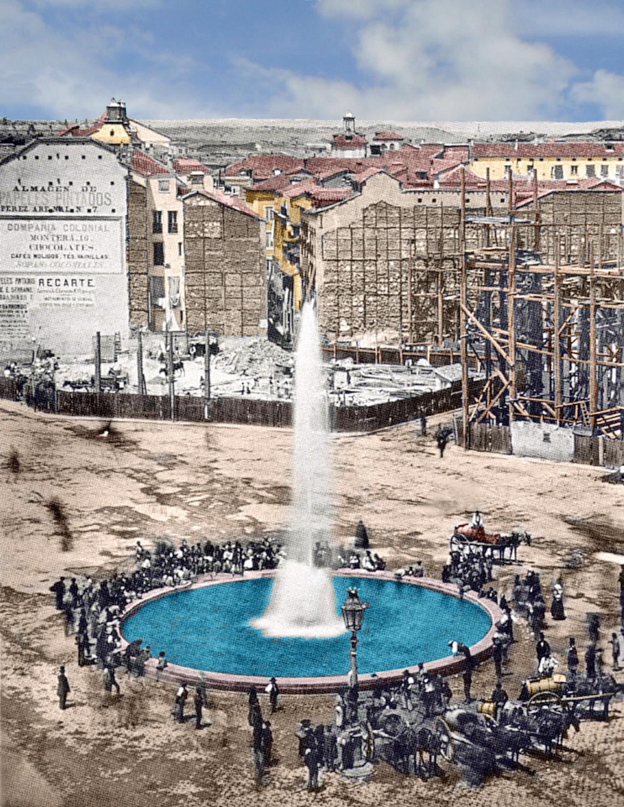 Madrid antiguo color portal fuenterrebollo for Fuente de la puerta del sol