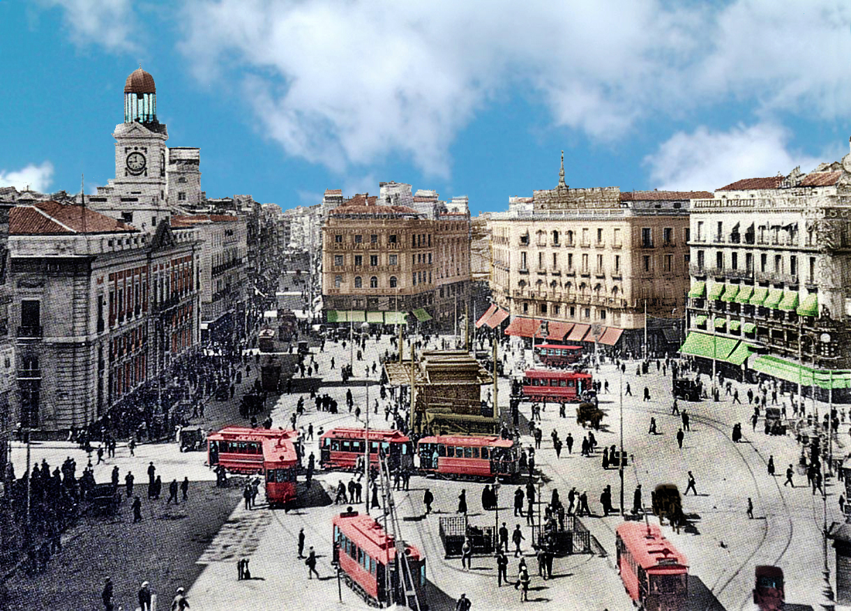 Fotos antiguas de madrid de 1850 a 1940 old madrid for Fotos reloj puerta del sol madrid